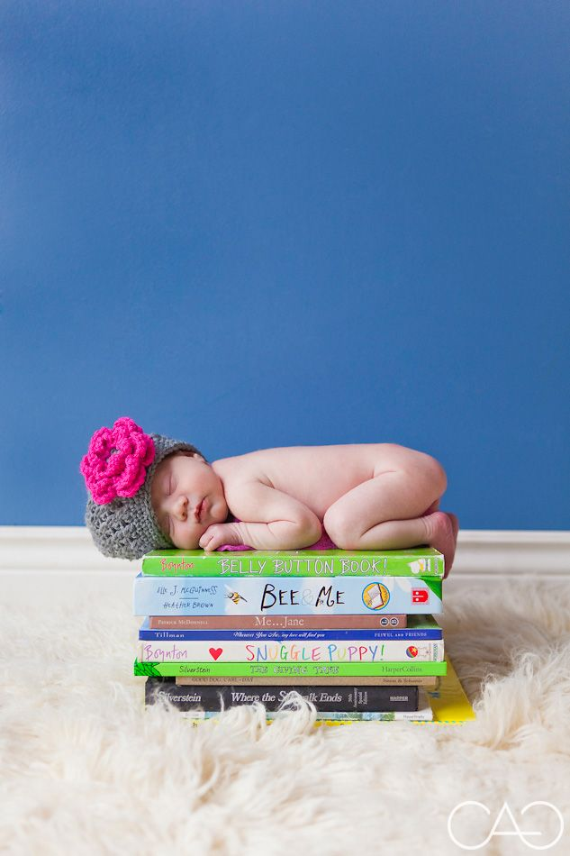 newborn on books