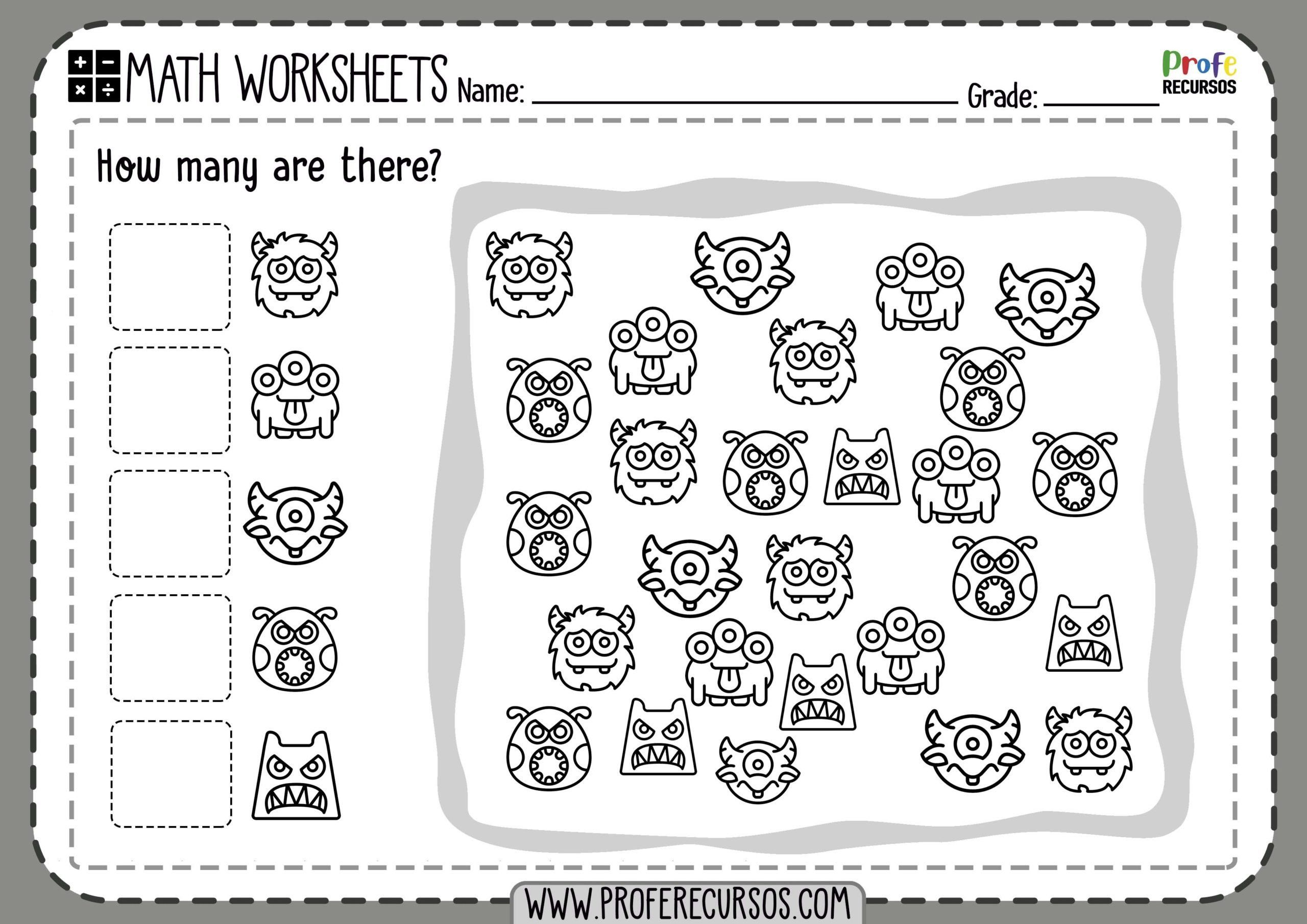 Adding Worksheets For Kindergarten Free Printable Counting