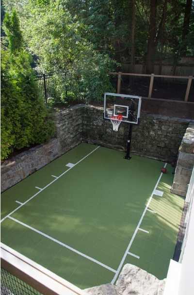 Pin on backyard basketball courts