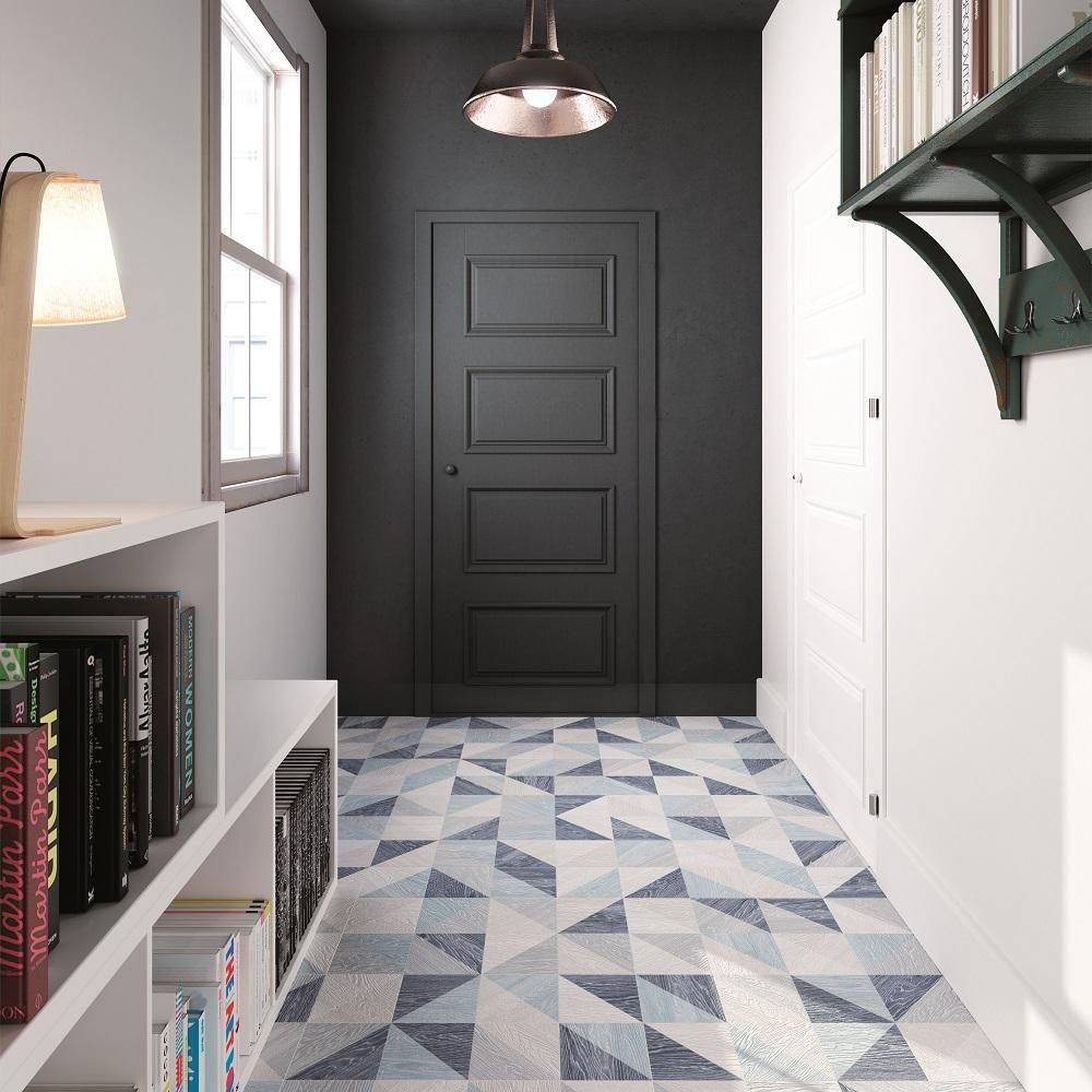 Merola Tile Taco Melange Blue 6 1 2 In X 6 1 2 In Porcelain Floor And Wall Tile 6 33 Sq Ft Case Fgf7tmbl Porcelain Flooring Floor Tile Design Flooring