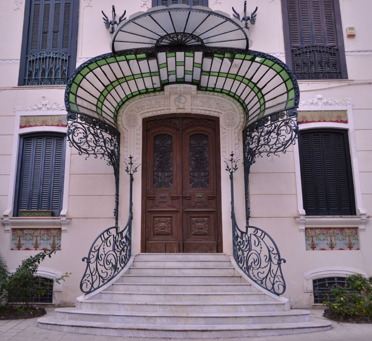 Hauseingang Jugendstil Schmiedeeisen Glas Vordach #door #style #old ...