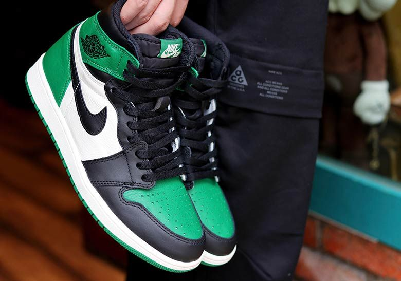 Air Jordan 1 Retro High Og Pine Green 555088 302 New Sale In 2020 Air Jordans Nike Air Shoes Jordan 1 Retro High
