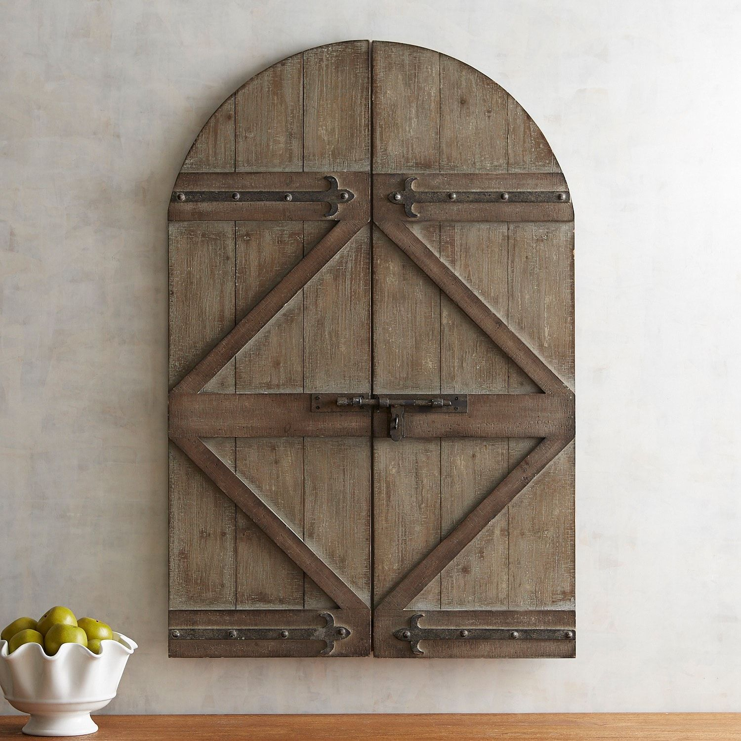 Barn Door Arch Wall Decor (With images) Arched wall