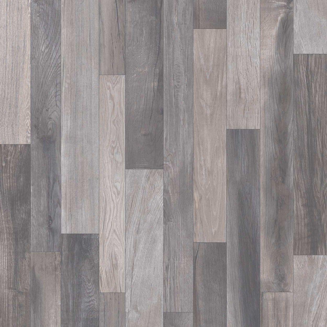 Sol vinyle imitation parquet gris patchwork  Grey laminate