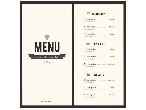 the word menu - Pinarkubkireklamowe