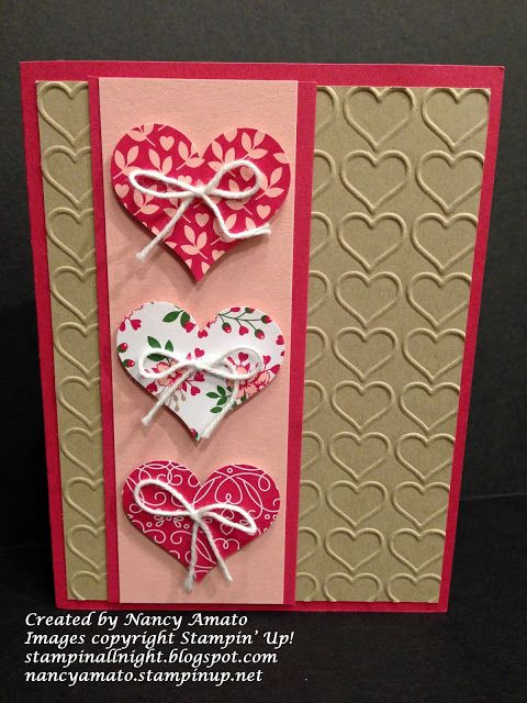 Stampin All Night With Images Valentine Cards Handmade Diy