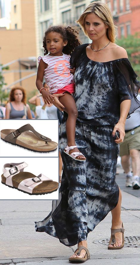 Heidi Klum s sandals Birkenstock Gizeh daughter wears