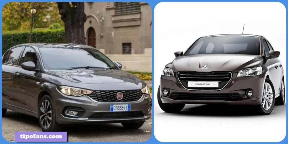مقارنة فيات تيبو بيزلاين و بيجو 301 الور 2020 تيبو فانز Fiat Tipo Peugeot Fiat