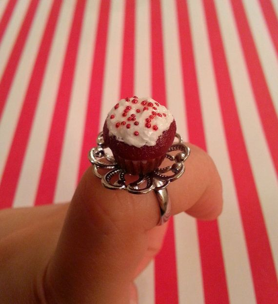 Hey, I found this really awesome Etsy listing at https://www.etsy.com/listing/202971048/red-velvet-cupcake-ring