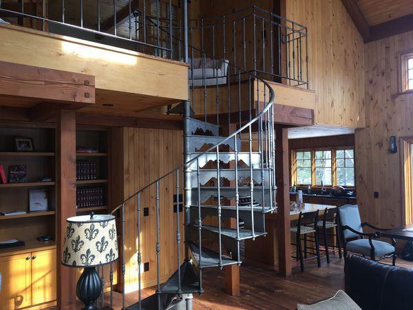 Photos escalier colimacon/helicoidal en fonte, modele 1905 Spiral - escalier interieur de villa