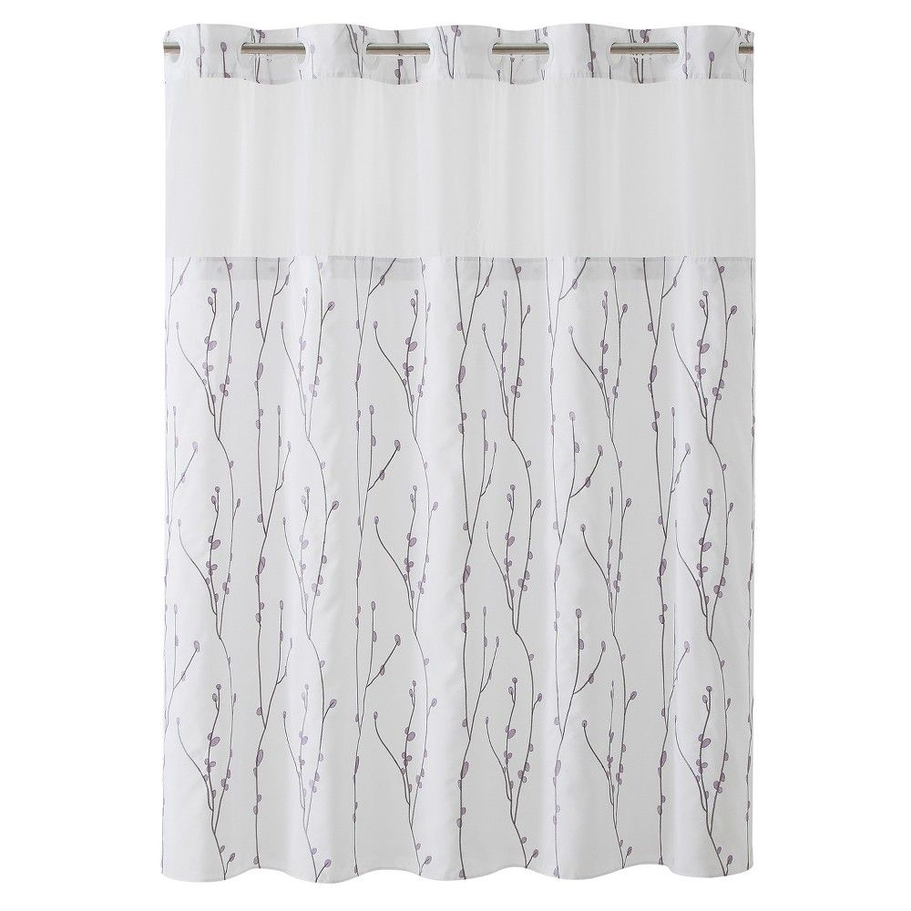 Hookless Cherry Bloom Shower Curtain With Liner White With Images