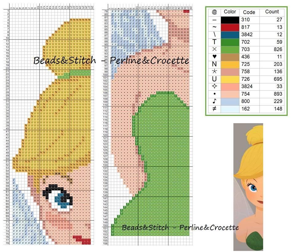 Segnalibro Disney Trilly | Bead Designs | Pinterest | Punto de cruz ...