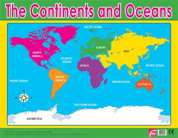 Teaching Idea SSG Locate Major Topographical Features Of The - Major continents