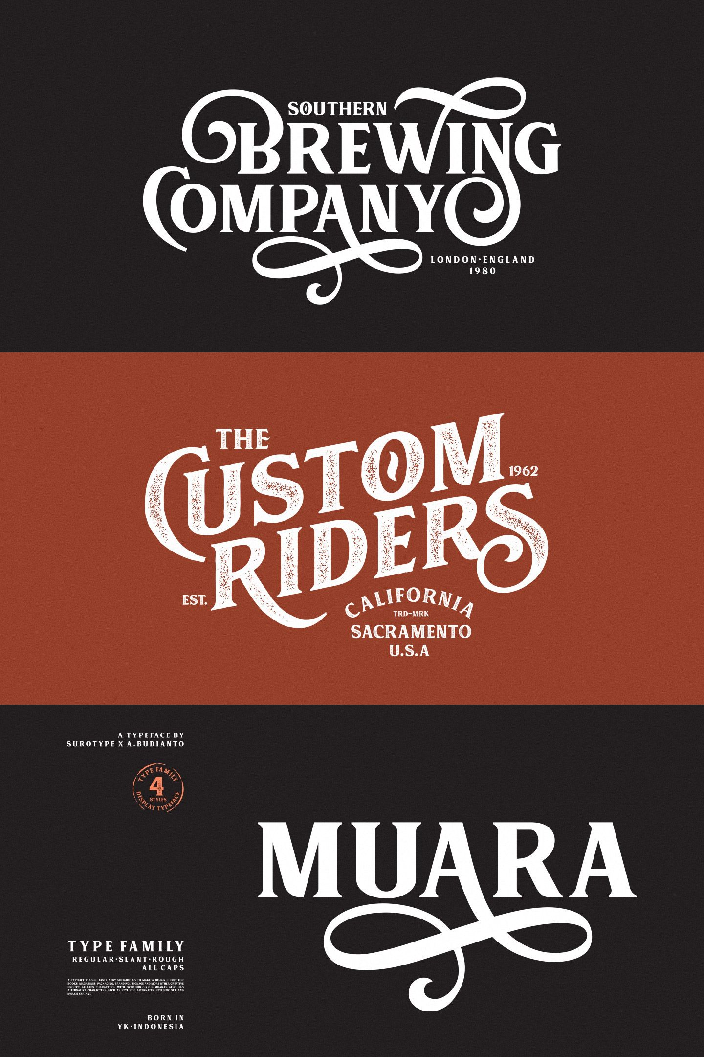 Muara Font A Typeface With A Classic Look Very Suitable To Make A Design Choice For Books Magazines P Lettering Design Brewery Logo Design Lettering Fonts