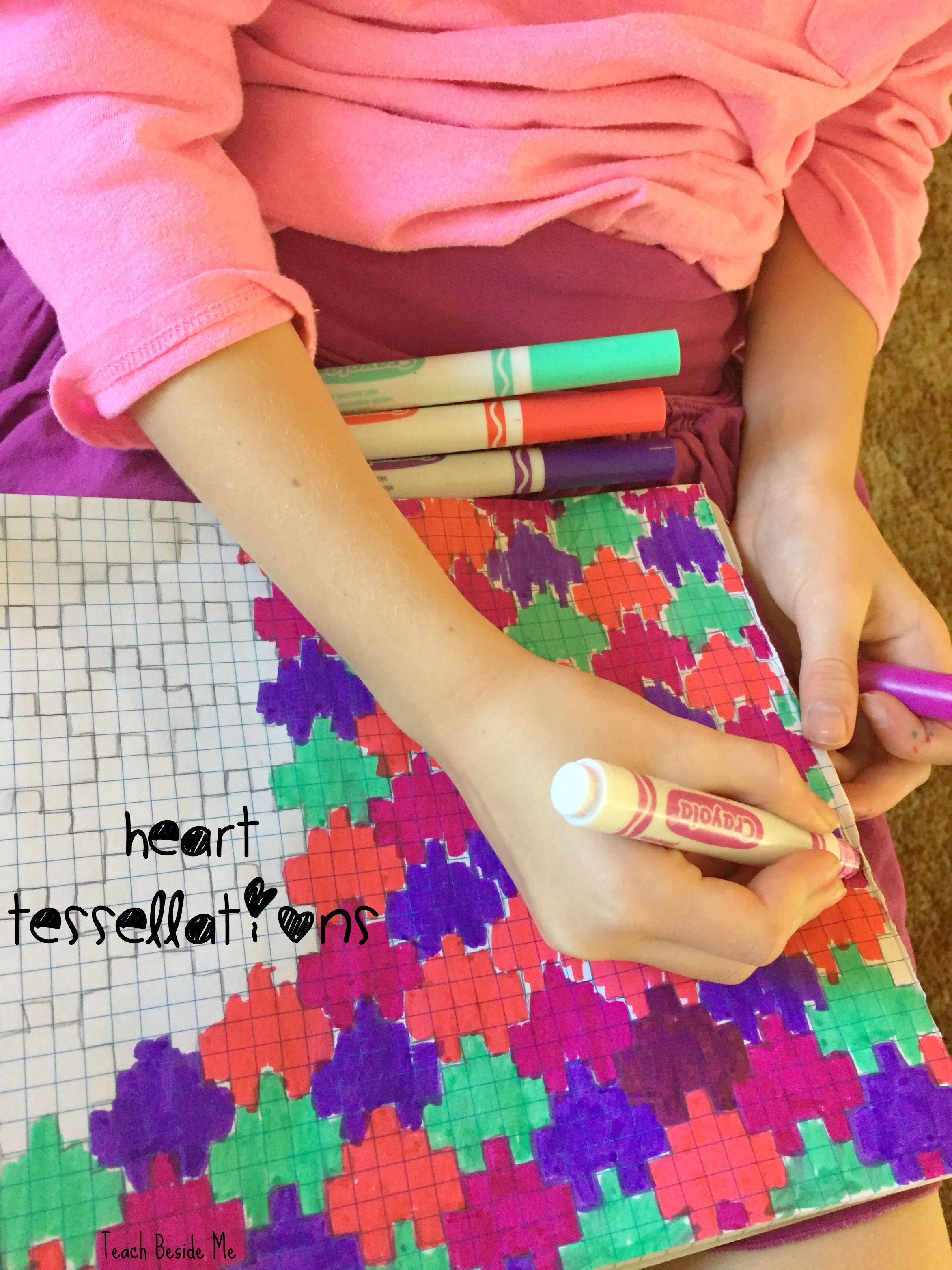 Heart Tessellation Valentine Math