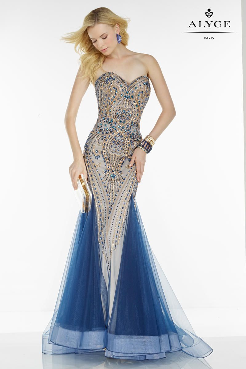 572a1d1247f Alyce Paris 6528 Mermaid Dress with Gems and Jewels