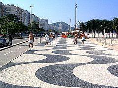 Calçadão em Copacabana