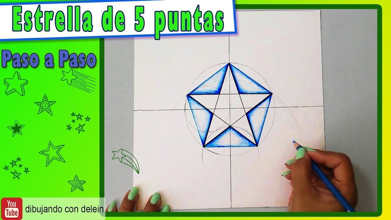 Como Dibujar Una Estrella Dibujos De Estrellas Estrellas De Papel Estrellas