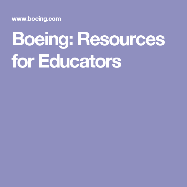 Boeing: Resources for Educators