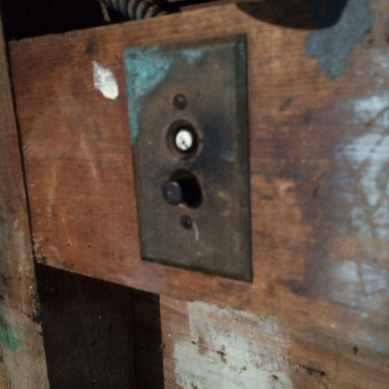 Push Button Light Switch Mid 1920s. I Remember These In My