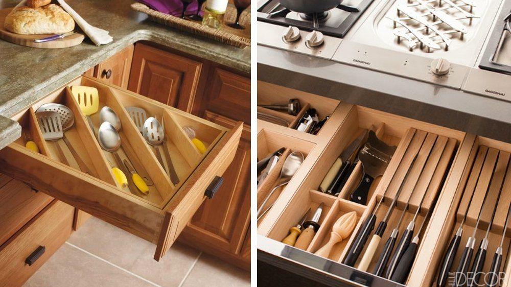 20 conseils pour mettre de l'ordre dans ses placards de cuisine | Placard cuisine, Tiroir ...