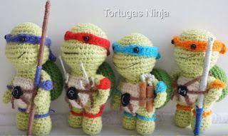 Häkeln Ninja Turtles Schlüsselanhänger Pinterest