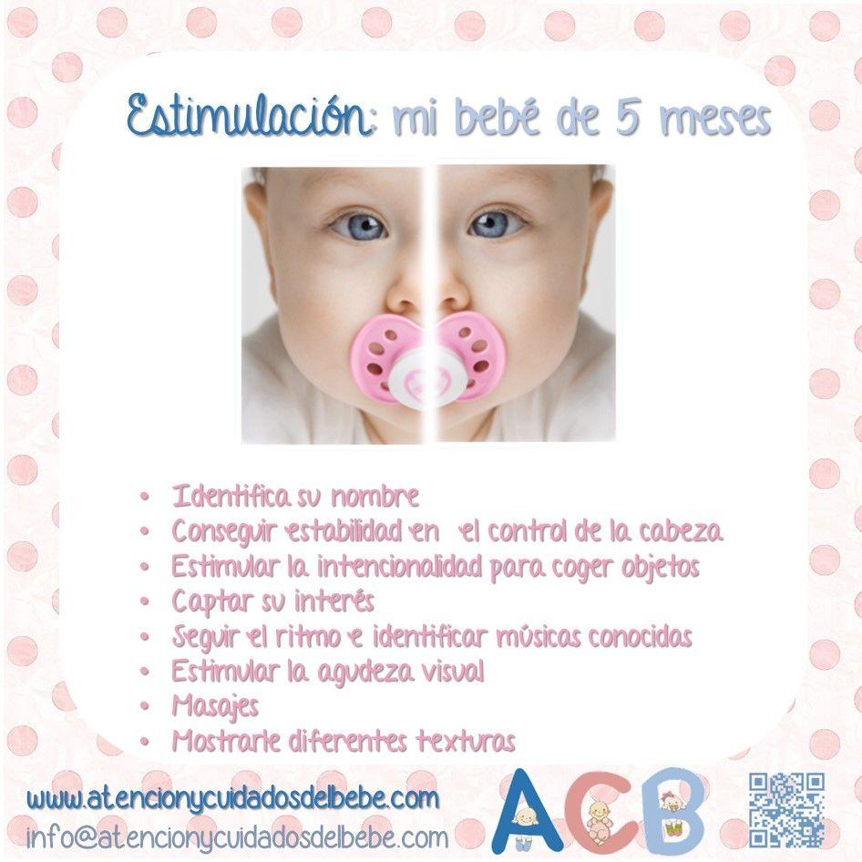 Estimulación: mi bebé de 5 meses. A esta edad se le debe dar masajes y presentarle diferentes texturas. Visita nuestro articulo y descubre por qué es tan importante la estimulación cognitiva a tan temprana edad http://tugimnasiacerebral.com/para-bebes/por-que-es-importante-la-estimulacion-temprana-para-los-bebes  #Infografia #Estimulacion #Temprana #Bebes #gimnasia #Cerebral
