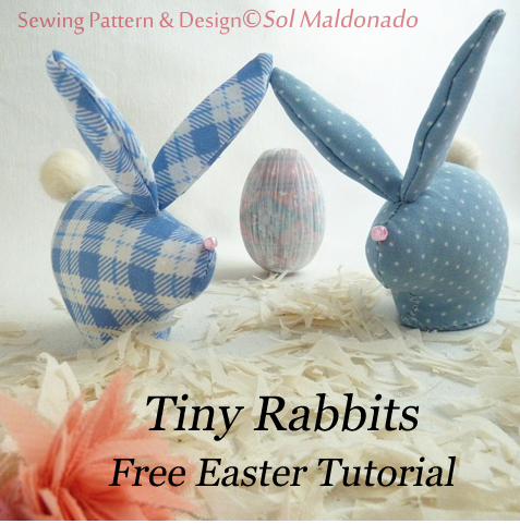 This free sewing pattern will show you how to make tiny rabbits for ...