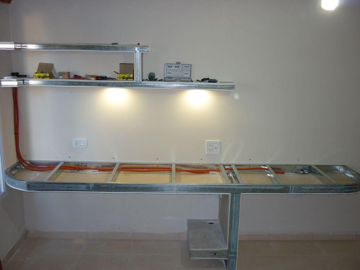 Construcci N De Escritorio Para Pc Y Placard En Durlock Muebles  # Muebles Durlock Paso A Paso