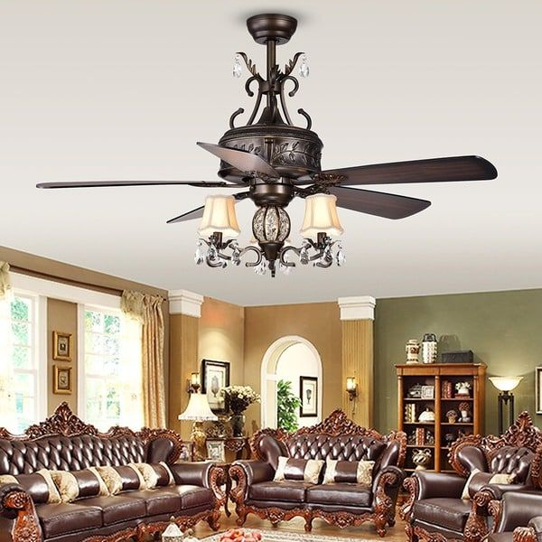 Firtha 52 Inch 5 Blade Antique Lighted Ceiling Fans With