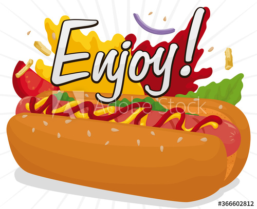 Delicious Hot Dog With Diverse Ingredients To Enjoy It Hot Dogs Delicious Enjoyment