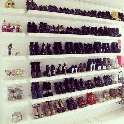 Chic Organization Idea Shoes On Shelves Shoe Shelves Chic