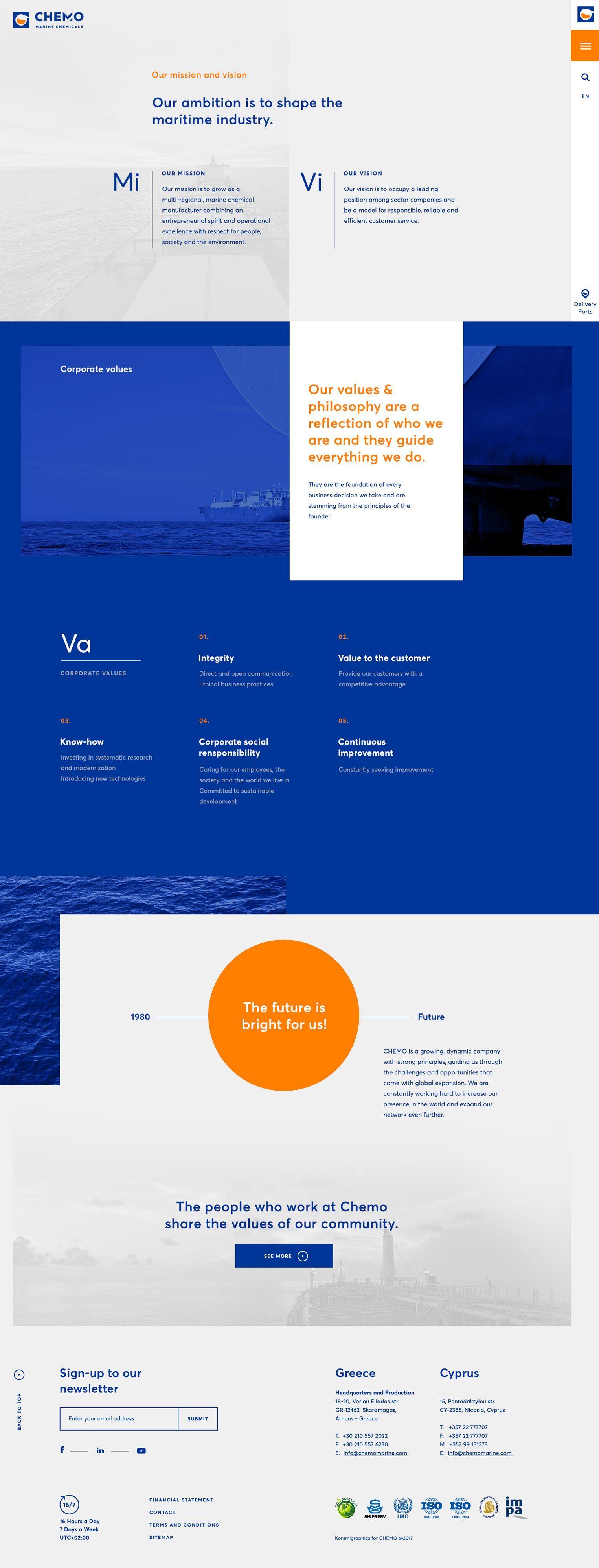 Chemo Marine In 2020 Web Design Web Design Studio Web App Design