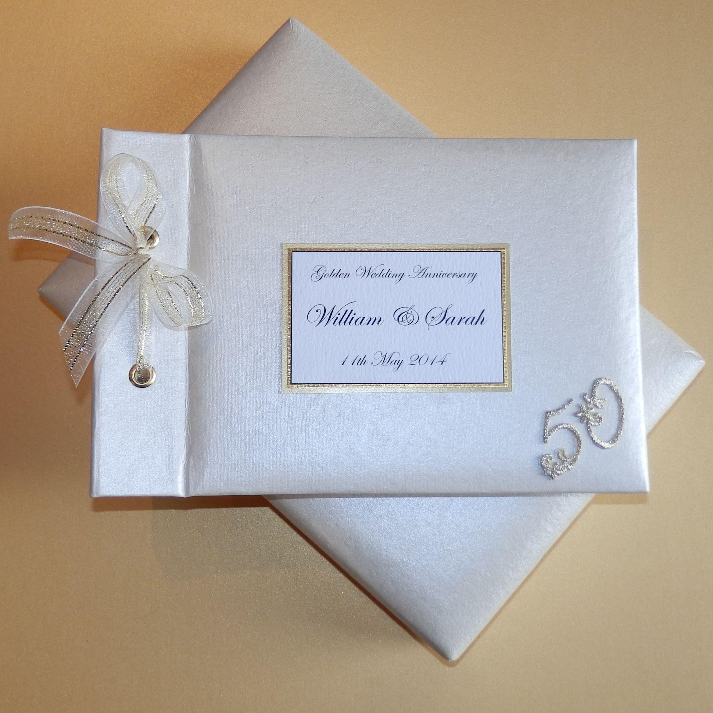 Golden Wedding Anniversary Photo Album Personalised And Handmade