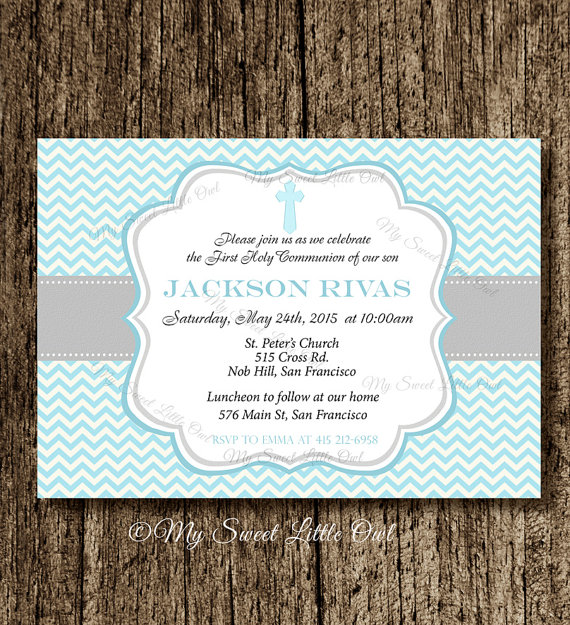 boy first communion invitation first communion invite holy