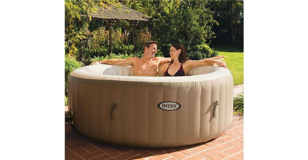 intex pure spa 4 person inflatable portable heated bubble hot tub good idea tub best. Black Bedroom Furniture Sets. Home Design Ideas