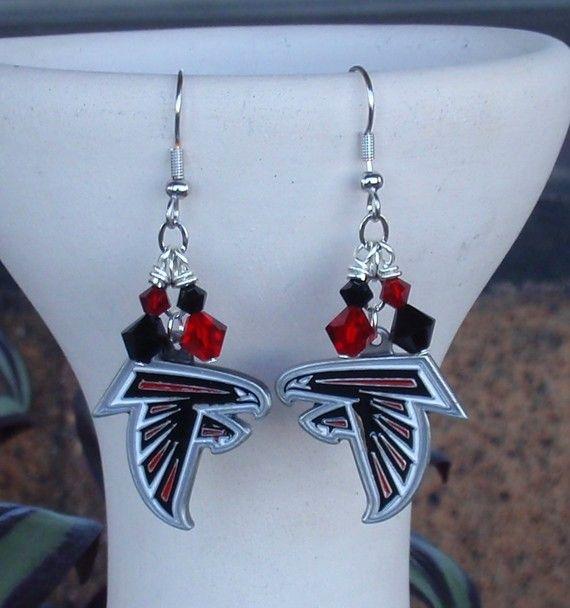 fc8576f6 Atlanta Falcons Inspired Crystal Earrings by scbeachbling on Etsy ...