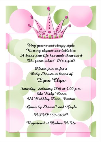 Baby Shower Tea Party Invitation Saying