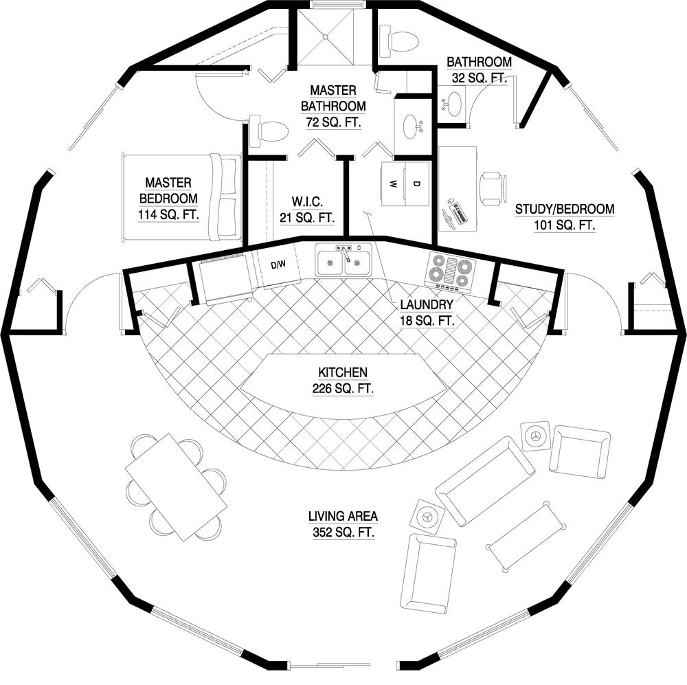 The Best 2 Bedroom Yurt Floor Plans And Description In 2020 Round House Plans House Floor Plans Yurt