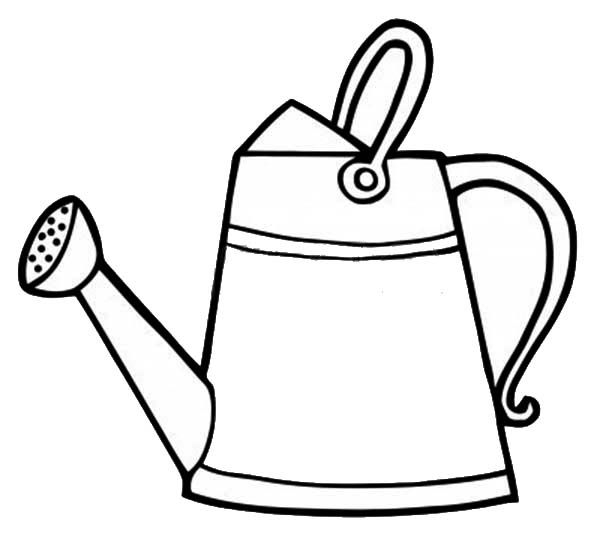 Watering Can Classic Watering Can Coloring Page Coloring Pages Watering Can Kids Doodles