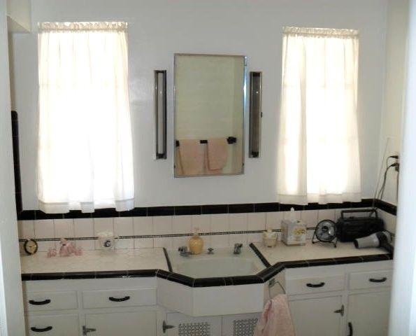 Vintage Original Condition 1940 Home House Phoenix Arizona Bathroom  Cabinets Tile