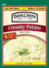 Bear Creek Creamy Potato Soup Mix: Crockpot Idea: 1 Cup Sour Cream With  Onion