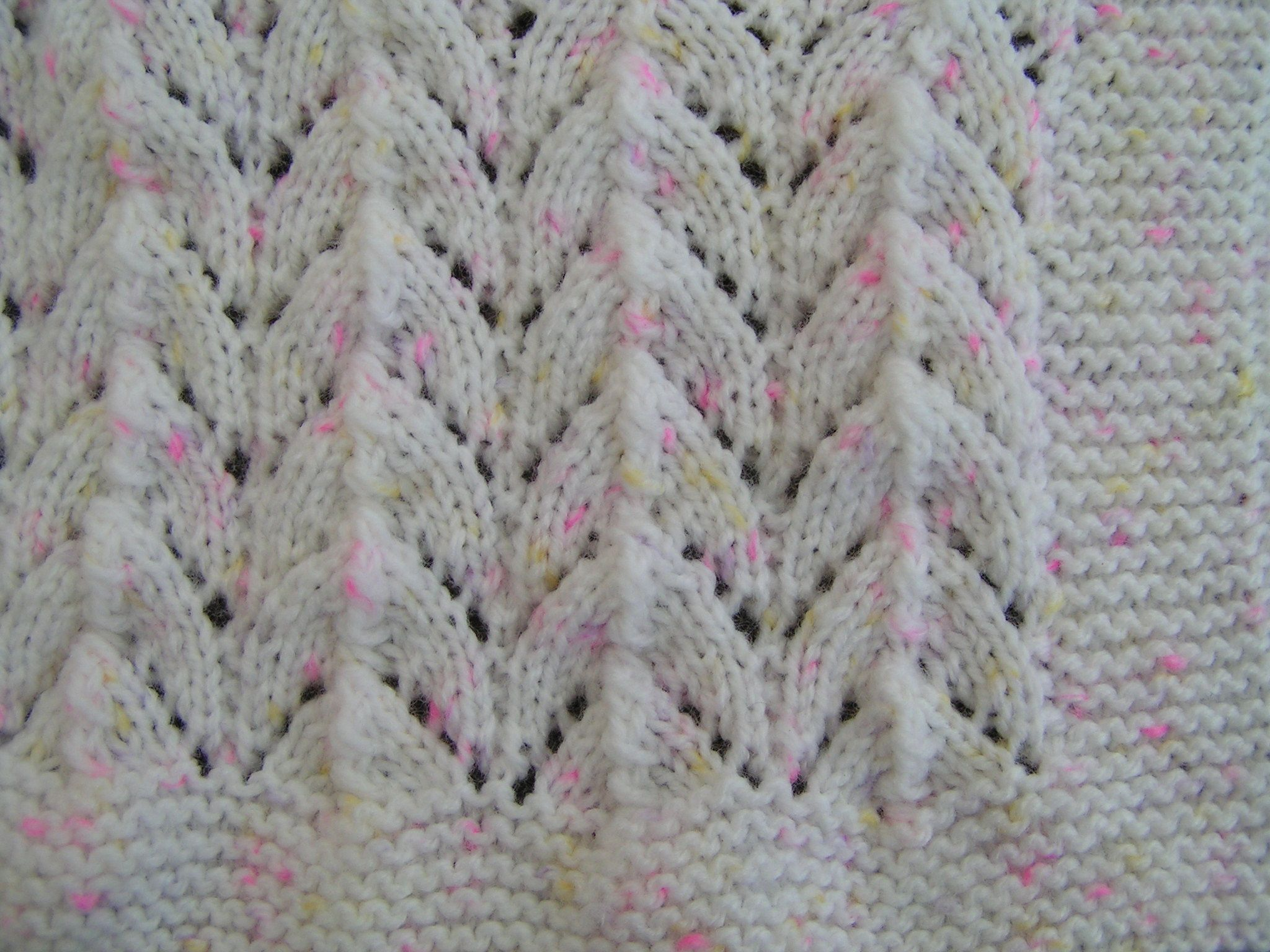 Easy to knit Horseshoe baby blanket pattern by Belinda Allen ...