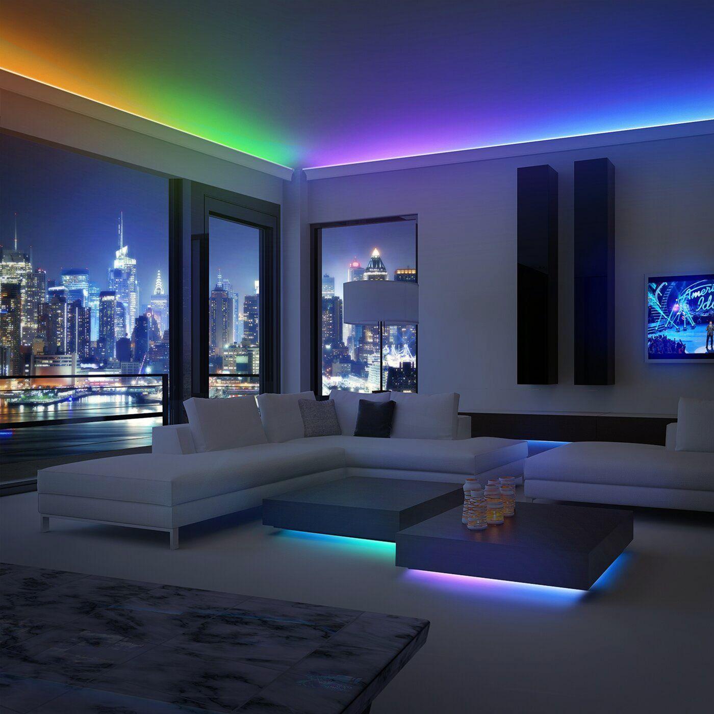 7 Best Led Strip Lights Design Ideas For Impressive Homes Interior Waterproof Led Lights House Design Room Lights