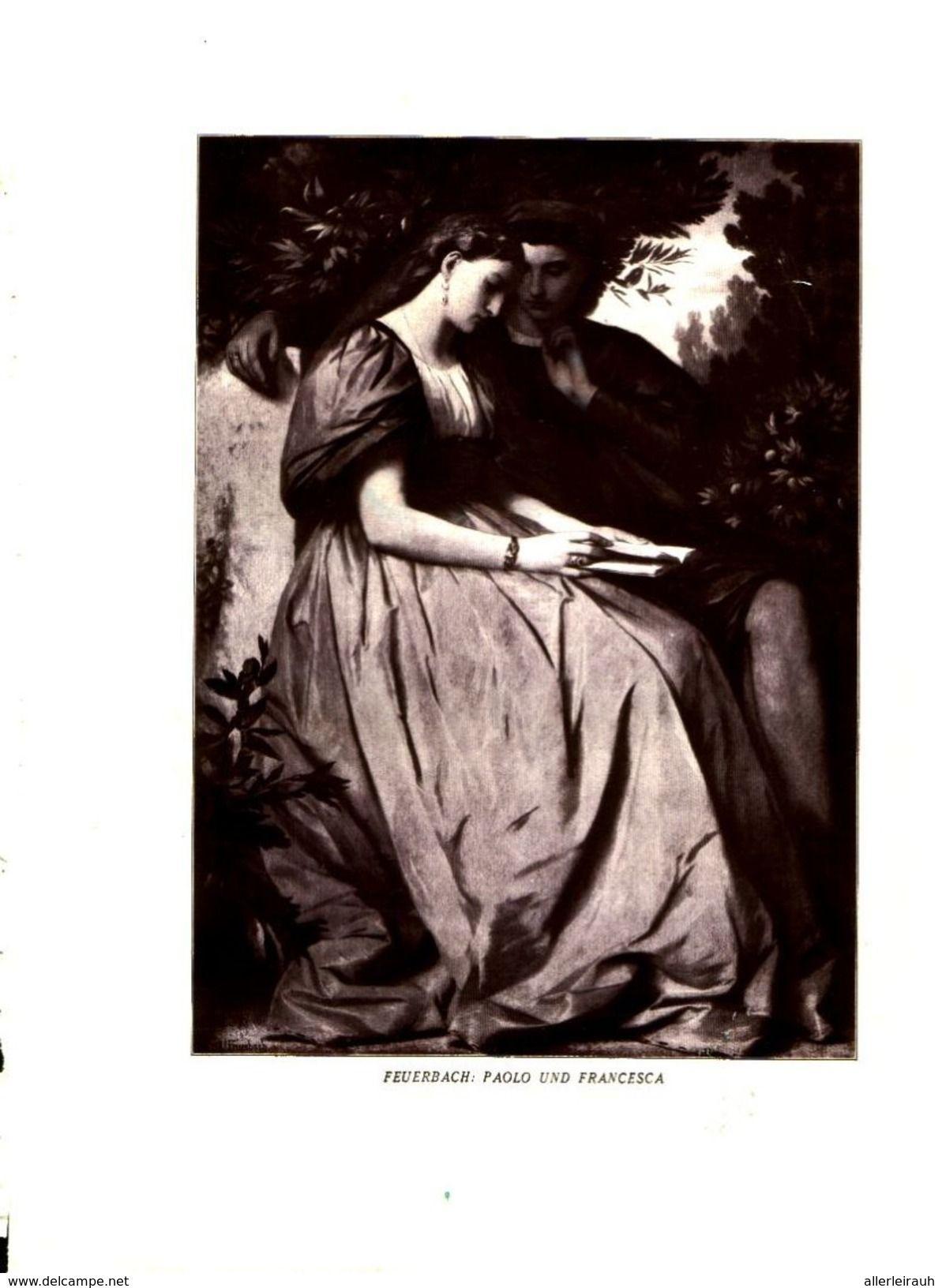 Feuerbach Paolo Und Fancesca Druck Entnommen Aus Zeitschrift 1929 Artikelnummer 469952008 Zeitschriften Drucken Bucher