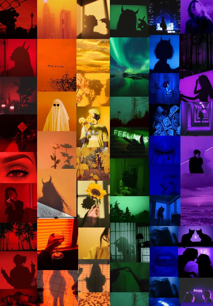 Rainbow Wallpaper Collage In 2020 Rainbow Wallpaper Aesthetic Wallpapers Picture Collage Wall