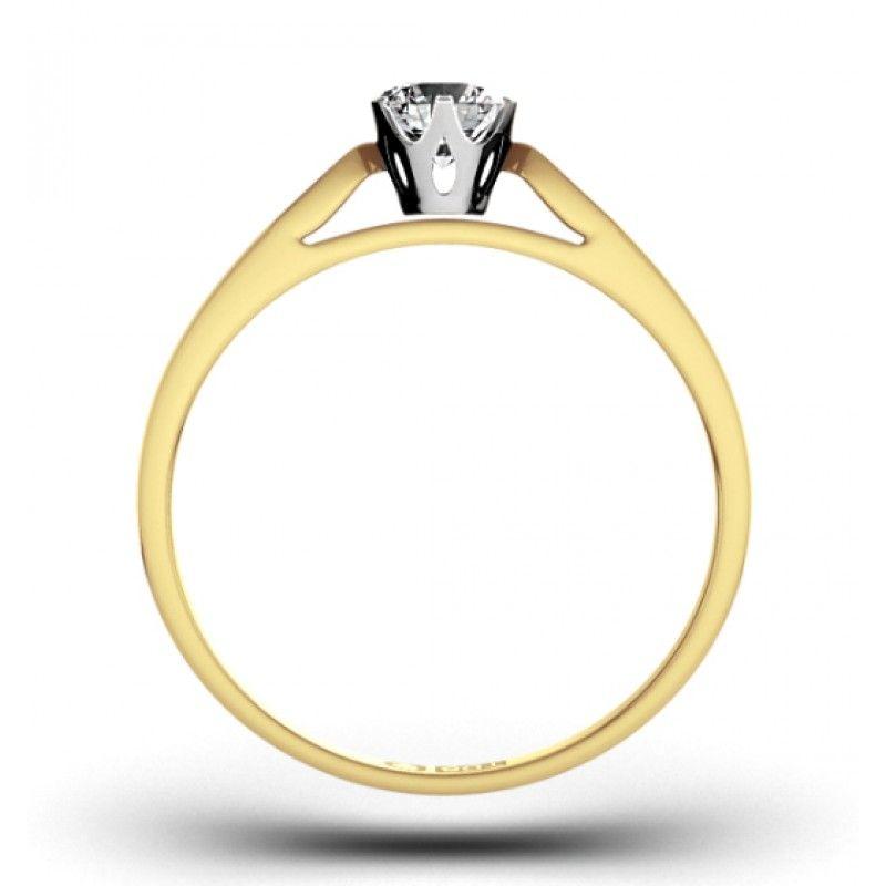 Detalhes Do Produto Anel De Noivado Diamantes Em Ouro Amarelo E
