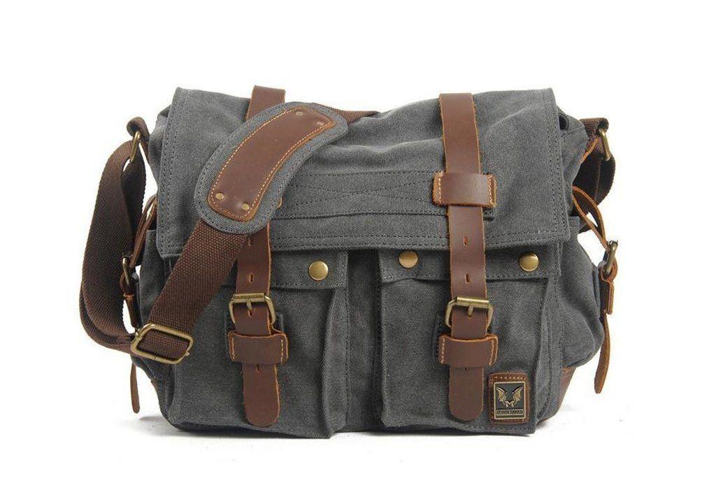 80bc9f924c79 ... online retailer 71b13 5c6c2 Canvas Leather Messenger Bag Crossbody Bag  Shoulder Bag Laptop Bag 2138K ...