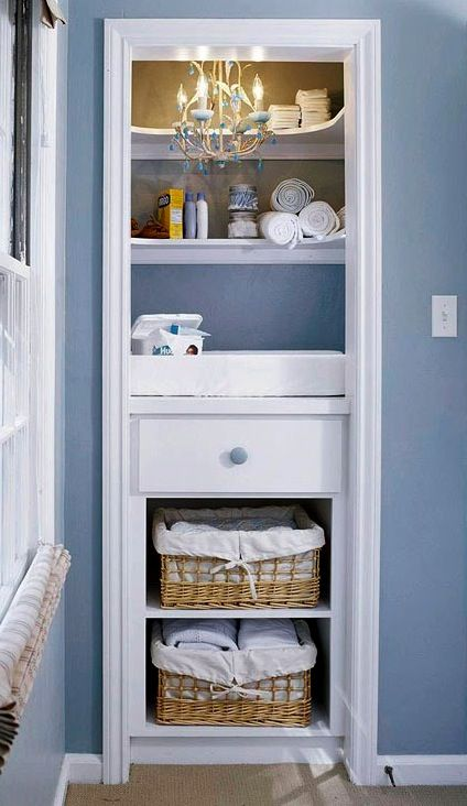 Baby Nursery Changing Table In Closet Turn Our Bedroom
