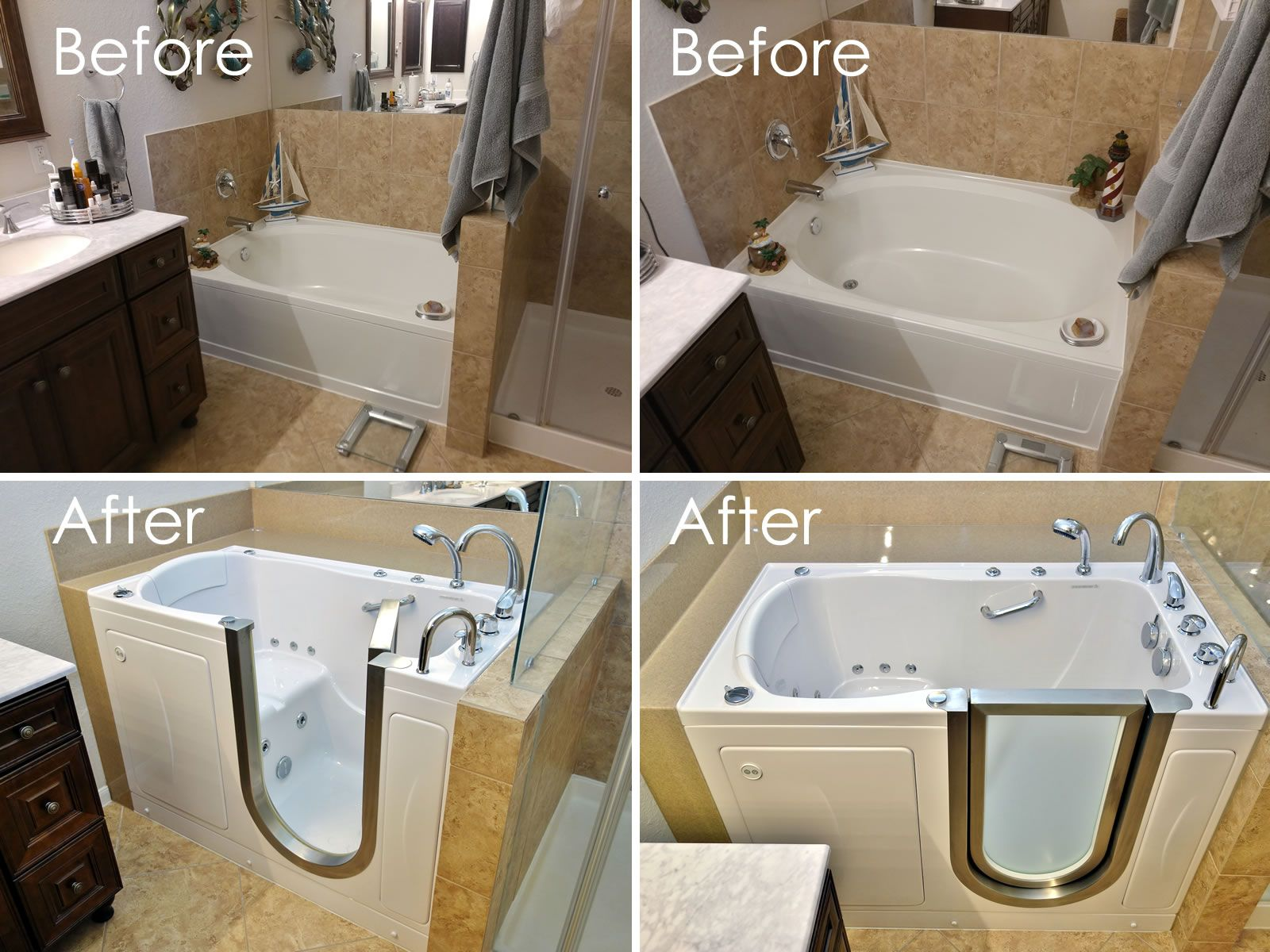 Ella Elite Hydro Microbubble Walk In Bathtub Before And After
